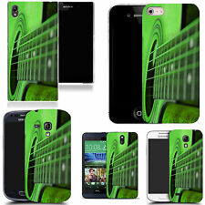 hard back case cover for many mobiles - green guitar