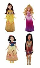 Disney Princess Royal Shimmer Belle, Aurora, Snow White, Pocahontas Doll