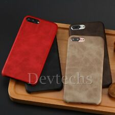 Leather Luxury Lightweight Vintage PU Back Case Cover Skin for iPhone 7 7 Plus