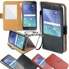 For Samsung Galaxy S 2345 Phone window view Flip Leather Wallet Stand Cover Case