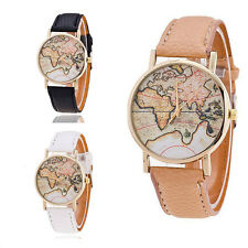 World Map Watches 1Pcs Students Gifts Quartz Leather Strap Casual Fashion Lovers