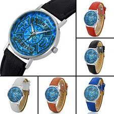 US Fire Fighter Quartz Watch Leather Mens Wristwatches Luxury Sport Watch Gift