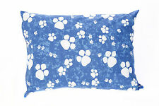 Blue Large & X Large Dog Bed With Removable Cover Filled Cushion & PolyPad