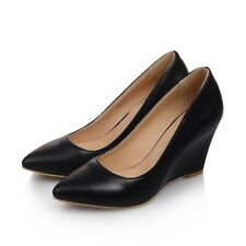 New Pointed Toe wedges Heels High shoes Patent Leather Women Pumps Shoes