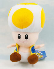 """7"""" Super Mario Bro Yellow Toad Plush Toy Soft Animal Toy Doll Cute Kid Gift"""