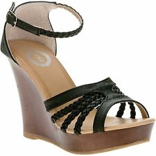 New! One Women's Open Toe Braided Wedge Sandal! Size 6! Fast Ship!