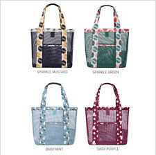Women Handbag Mesh Beach Bag Pienic Tote Bag Lightweight Grocery Shopping Pocket