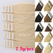 20-40pcs Tape In Seamless Skin Weft Real Remy Human Hair Brazilian Virgin I460