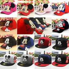 Toddler Boys Girls Superhero Hip Hop Baseball Cap Mickey Snapback Bowknot Hat
