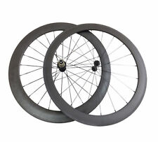 Ceramic Bearing Hub50+60mm Tubular Carbon Wheels Road Bicycle Road Bike Wheelset