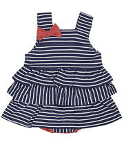 Lilly and Sid Baby Girl Nautical Frill Sunny Suit