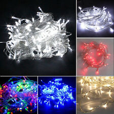 200/400/500 LED Electric String Fairy Lights Indoor/Outdoor Xmas Christmas Party