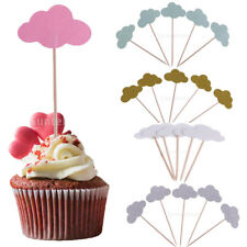 50pcs Mini Cloud Xmas Home Party Cupcake Food Picks Toppers Cake Centerpieces