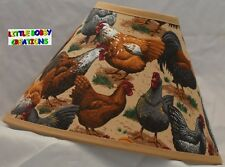 Roosters Chickens Farming Lamp Shade (Made by LBC)  SHIPS WITHIN 48 HOURS!!!