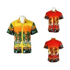 Hawaiian Shirt Mens Allover Print Beach Camp Party Aloha T shirt Summer 2017 New