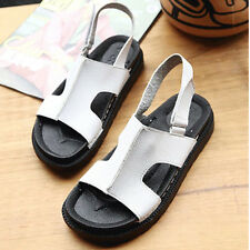 New Fashion Womens Shoes Sandals Wedge Heels PU Leather Summer Wedge Platform