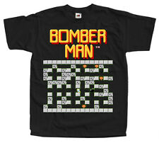 BOMBERMAN STAGE 1 NES game T SHIRT BLACK ALL SIZES S-5XL