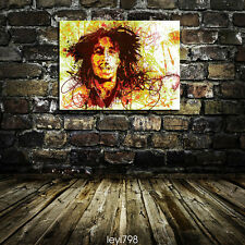 Oil Painting Portrait HD Print Canvas Modern Decoration Wall Art Bob Marley