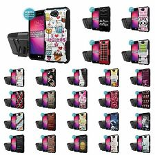 LG X Power2/LG Fiesta/LV7 Defender Kickstand Holster Case + Screen Protector - P