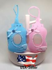 12 Fillable Baby Shower Favors Blue Pink Party Decorations Girl Boy Bags Lace