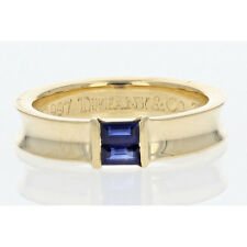 Tiffany & Co. 1997 Sapphire Stacking Ring in 18k Yellow Gold