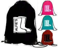 WELLY BAG wellington boot bag wellies personalised school kids childrens boots