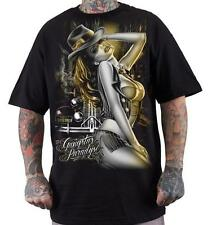 GANGSTER PARADISE CHICANO ART DYSE ONE  BLACK TEE rap