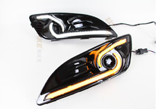 Brand Auto LED Daytime Running Lights DRL+Yellow Trun Singnal For Ford Fiesta 13