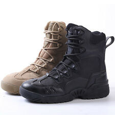 Army Tactical Comfort Leather Combat Military Ankle Boots Mens Army Shoes