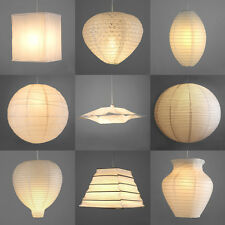 White Pair of Modern Paper Ceiling Pendant Light Lamp Shades Lanterns Lampshades