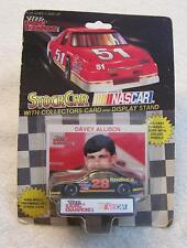 SEALED IN PACKAGE NASCAR DIE CAST METAL RACE CAR DAVEY ALLISON WITH STAND & CARD
