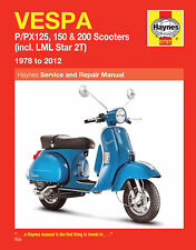 Haynes Repair Manual 707 - Vespa P/PX 125, 150, 200 Scooters (1978-2012)
