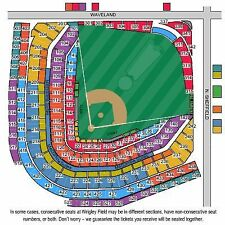 4 Tickets LOWER sec 223 Chicago Cubs Braves HARD COPY 8/31/17 Wrigley Field
