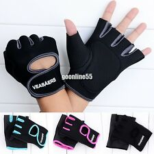 Sport Cycling Fitness GYM Half Finger Weightlifting Gloves Exercise Training EA9
