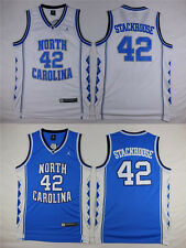 NCAA Jerry Stackhouse #42 NORTH CAROLINA BLUE WHITE Men Basketball Jersey Sports
