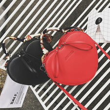 Fashion Heart Shape Cross body Messenger bag Women Shoulder Bag Handbag + Scarf