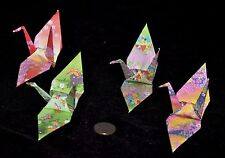 """100 ORIGAMI CRANES- 6"""" PAPERS BEAUTIFUL CHIYOGAMI GREEN,YELLOW,PINK,PURPLE"""