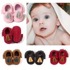 Baby Boy Girl Kids Newborn Toddler Scurb Moccasins Soft Sole Crib Shoes 0-18M