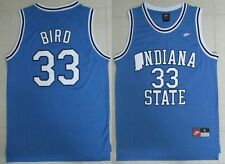 INDIANA STATE SYCAMORES Larry BIR #33 Men BLUE Retro Basketball Jersey S - 2XL