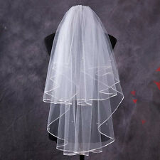 1.5M Two Layer Wedding Veil Garden Veils With Comb High Quality White Ivory UY5