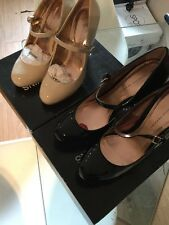 New Woman's Dorothy Perkins Court Shoes,Enlight black size 7 or cream size 5