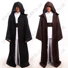 Adult Star Wars Jedi Knight Cloak Robe Cosplay Costume Hooded Cape Halloween