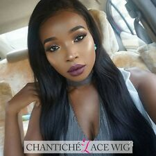 Natural Straight Human Hair Lace Front Wigs For Black Women Brazilian Remy Wigs