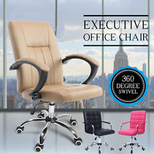 Modern High Back Executive Office Chair PU Leather Swivel Computer Desk Chair