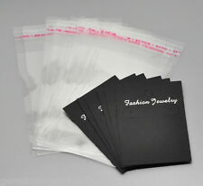 Wholesale Lots Earring Display Cards 7cmx5cm W/ Self Adhesive Bags 11.5cmx6cm GW