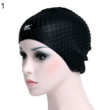 Ear Protection Silicone Swimming Cap Waterproof Long Hair Swim Hat Adult Flowery