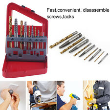 5-10PCS/SET Screw Extractor Drill Set Fast Speed Broken Damaged Bolt Remover XC