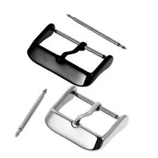 10Pcs Steel Replacement Watch Strap Band Clasp Parts Pin Buckle Silver Black