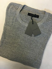 "ALL SAINTS GREY MARL ""DYLE"" CREW JUMPER SWEATSHIRT TOP - XS M L XL XXL NEW TAGS"