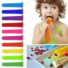 Silicone Push Up Ice Cream Jelly Lolly Maker Popsicle Frozen Tray DIY Mold